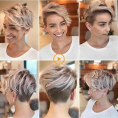 Best Practicality Pixie Haircut Ideas, Best Short Hair for Women frisuren frauen hair hair women Cool Short Hairstyles, Short Pixie Haircuts, Hairstyles For Round Faces, Short Hair With Undercut, Pixie Haircut For Round Faces, Hairstyles Haircuts, Short Female Haircuts, Undercut Pixie Haircut, Blonde Pixie Haircut