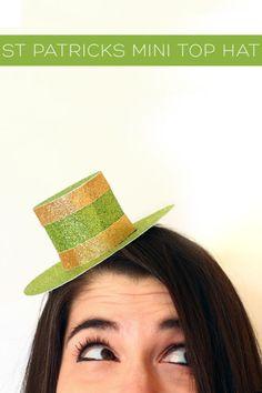 20 Lucky St. Patrick's Day DIYs: St. Patrick's Day DIYs: Mini Leprechaun Top Hat
