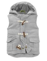 twill toggle vest for baby   Gap