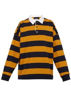 07e4f063 WOOYOUNGMI WOOYOUNGMI - STRIPED JERSEY RUGBY SHIRT - MENS - NAVY MULTI.  #wooyoungmi #cloth