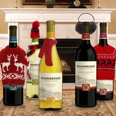 Our kind of #uglysweaterparty.     #happyholidays #wine