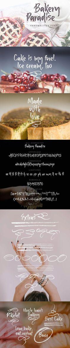 Bakery Paradise Handwritten Font. Wedding Card Templates. $10.00