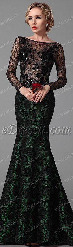 Sexy lace bodice formal dress! #edressit #dress #fashion #evening_dress