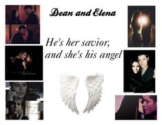 """""""Dean and Elena"""" by tvdfanatic123 ❤ liked on Polyvore featuring art"""