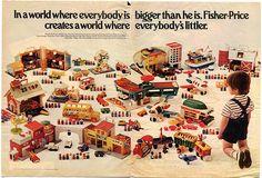 Fisher Price magazine ad 1973 by Lefty Limbo, via Flickr