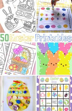50 Easter printables to use with kids for learning and fun