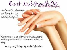 Oils for nail growth