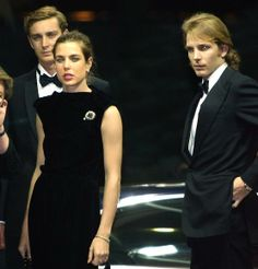 Pierre, Charlotte and Andrea (the Casiraghi siblings).