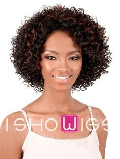 Bouffant Medium-length Curly Human Hair Wig http://www.ishowigs.com/bouffant-medium-length-curly-human-hair-wig.html