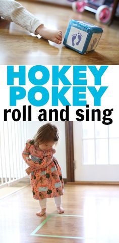 Hokey Pokey Roll and Sing: A new variation on the traditional silly song! Your child will learn about body parts and positional words such as in/out in this fun activity!