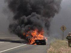 $370,000 Lamborghini Aventador goes up in flames