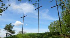 Tři morové kříže v Družci Utility Pole, Wind Turbine