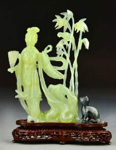 13.	Chinese Qing Jade Figural Sculpture