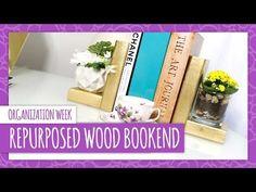 DIY Repurposed Wood Bookend - HGTV Handmade #DIY http://www.youtube.com/watch?v=F8HHAs6oY5A&feature=share&list=UUesXqJmu3vgiacty8CVlK5g