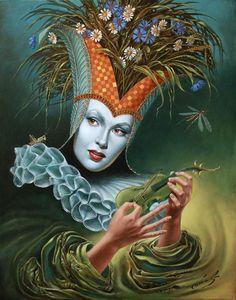 """# 41 Midsummer Chirr 30"""" x 24"""", oil on canvas, 2011"""