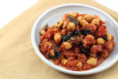 Stewed Chickpeas and Tomatoes with Kale via @diabeticfoodie