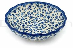Polish pottery.  I love baking cakes and making Jello dishes in the dishes with these fluted edges.