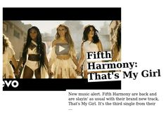 Fifth Harmony: That's My Girl