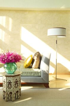 Simplicity creates a very relaxing living area. #InteriorDesign #HomeDecor