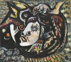 inthemoodtodissolveinthesky:  Jackson Pollock, Mask, 1941