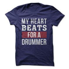 Does your heart beat for a drummer? Does the drummer in your life make your heart go pitter-pat? Show some love for the drummer your heart adores with this clean and simple shirt design.