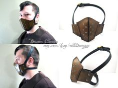 Leather Steampunk Riding Mask by swanboy