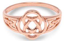 Rose gold trinity knot