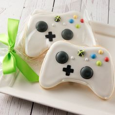 Cookie Favors, Cookie Gifts, Dairy Free Cookies, Sugar Cookies, Xbox Party, Game Party, Gifts For Teen Boys, Teen Boy Birthday Gifts, Cookie Designs