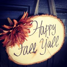 Happy Fall Y'all!   #homemade #sign #fall