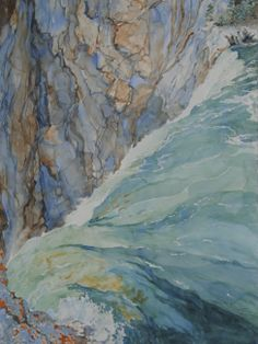 My watercolor of the top of lower falls of the Yellowstone. http://www.trailheadstudios.com/blog.html