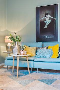 D co bleu canard id es et inspiration salon bleu - Petit appartement studio allen killcoyne ...
