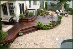 A Patio Deck Design will add beauty to your home. Creating a patio deck design is an investment that will […] Backyard Patio Designs, Backyard Landscaping, Low Deck Designs, Stone Patio Designs, Landscaping Around Deck, Landscaping Design, Cozy Backyard, Small Backyard Decks, Small Patio