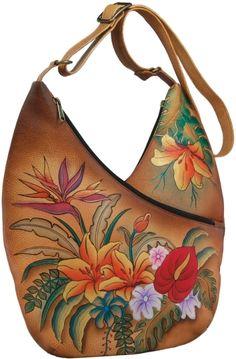 Anuschka cross body tassen zijn een feest voor de ogen met hun heldere kleuren en prachtige design elementen in prachtig handgeschilderd leer. Elke  -