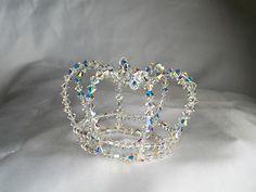 Very dainty handmade swarovski crystal crown /coronet /tiara | eBay