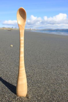 Hand Carved Wooden Baby Spoon by TheTideline on Etsy