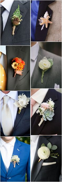 23 wedding boutonniere ideas you cannot resist! Wedding Groom, Wedding Men, Wedding Suits, Diy Wedding, Rustic Wedding, Dream Wedding, Wedding Ideas, Corsage And Boutonniere, Wedding Boutonniere