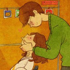 """""""Soft cheek"""" by Puuung Haha he's so cute ^^"""