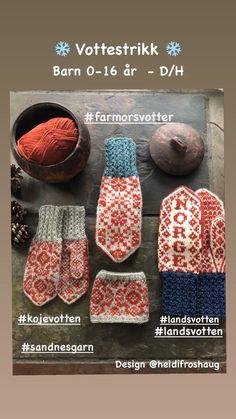 Norskt tradisjonsstrikk | FINN.no Knitting Charts, Knitting Patterns, Mittens, Knit Crochet, Sunglasses Case, Monogram, Stitch, Design, Crocheting