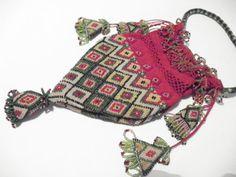 ANTIQUE WW1 TURKISH PRISONER OF WAR HEAVY BEADED BAG | eBay