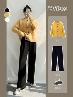 Korean Girl Fashion, Korean Fashion Trends, Korean Street Fashion, Ulzzang Fashion, Korea Fashion, Muslim Fashion, Look Fashion, Casual Asian Fashion, Fashion Quiz