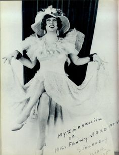 Fun with Billy Halle or Koro, female impersonator of the 1920's.