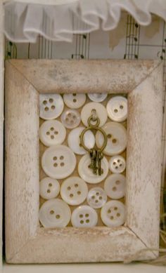 framed buttons with key