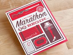 Let The Marathon Begin - Awesome cards by 55 Hi's