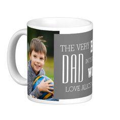 Custom Photo Father's Day Mug Grey