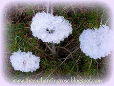 The Enchanting Rose: Lace Snowflake Christmas Ornaments