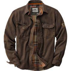 Legendary Whitetails Men's Journeyman Flannel Lined Rugged Shirt Jacket, Black
