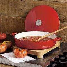 Mario Batali Red Bistro Pan/Dutch Ovens/Soup Pot in Enamel Cast Iron
