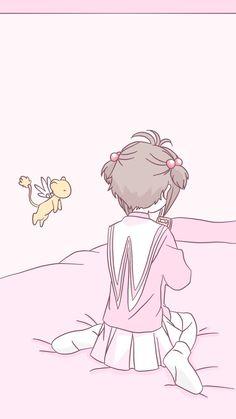 Kawaii Doodles, Kawaii Chibi, Manga Anime, Anime Art, Cute Backgrounds, Cute Wallpapers, Sakura Kinomoto, Card Captor, Character Wallpaper