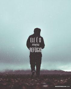 """""""Tu és o meu refúgio e a minha fortaleza o meu Deus em quem confio"""". - Salmos 91:2 () maisoverflow.com  #30daysofbiblelettering  X"""
