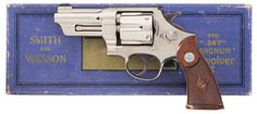 nickel plated Smith & Wesson Registered Magnum revolver 357